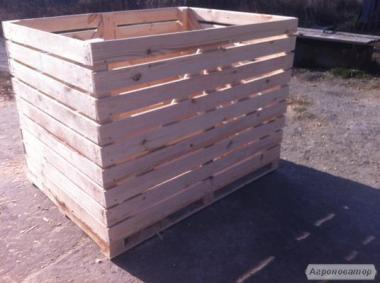 Контейнер для овощей, Евроконтейнер, деревянный контейнер, овощной