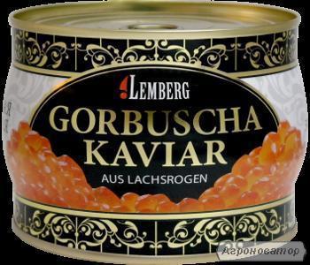 ікра червона горбуші ТМ Лемберг, 500 грам, ж/б
